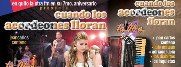 Concierto Vallenatos en Quito Mayo 2013 - Cuando los Acordeones Lloran