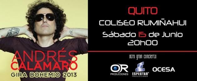 Concierto Andres Calamaro Ecuador 2013