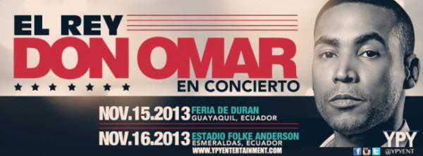 Concierto Don Omar Noviembre 2013 Ecuador