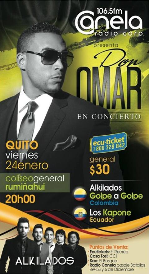 Concierto Don Omar Quito Enero 2014