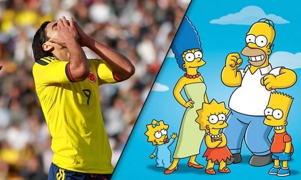 Los Simpsons sufren por la lesión de Radamel Falcao