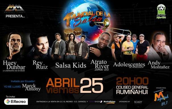 Concierto de Salsa en Quito Ecuador Abril 2014
