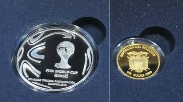 Monedas del Banco Central en Honor a la Selección Ecuador