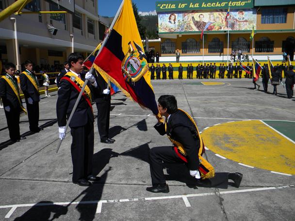Juramento a la Bandera 26 de Septiembre en Ecuador