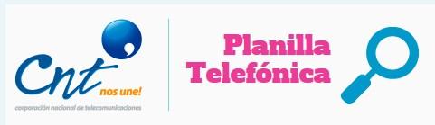 Consultar Valor Planilla Telefónica de la CNT por Internet