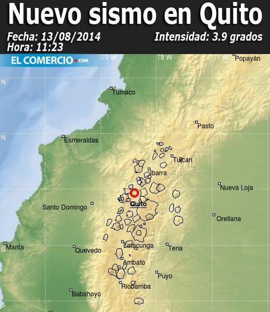 Temblor en Quito Agosto 2014