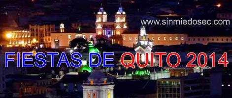 Fiestas de Quito 2014 - Cronograma Agenda de Actividades