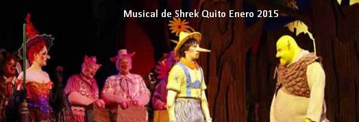 Musical de Shrek Quito Enero 2015
