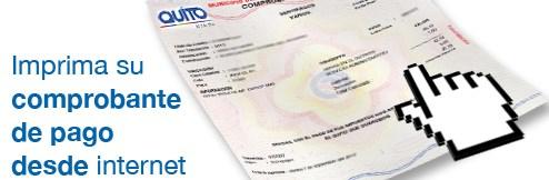 Imprimir Comprobante del Impuesto Predial Quito