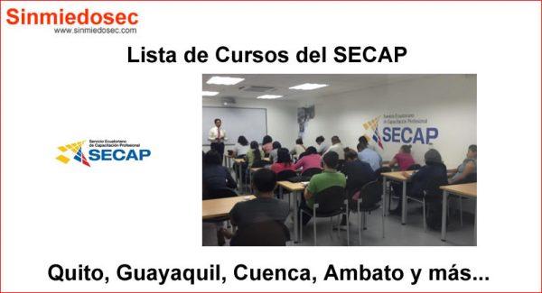 Lista de Cursos del SECAP (Nuevos Cursos)
