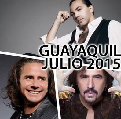 Alejandro Lerner, Cristian Castro y Pablo Herrera Guayaquil 2015
