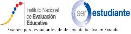 Examen para estudiantes de decimo de básica en Ecuador