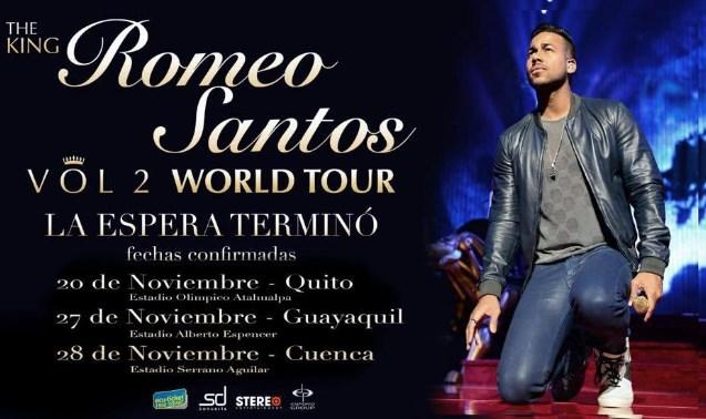 Tour Romeo Santos Ecuador 2015