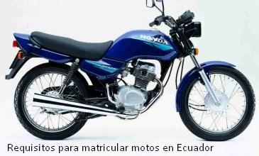 Requisitos para matricular motos en Ecuador