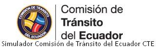 Simulador Comisión de Tránsito del Ecuador CTE