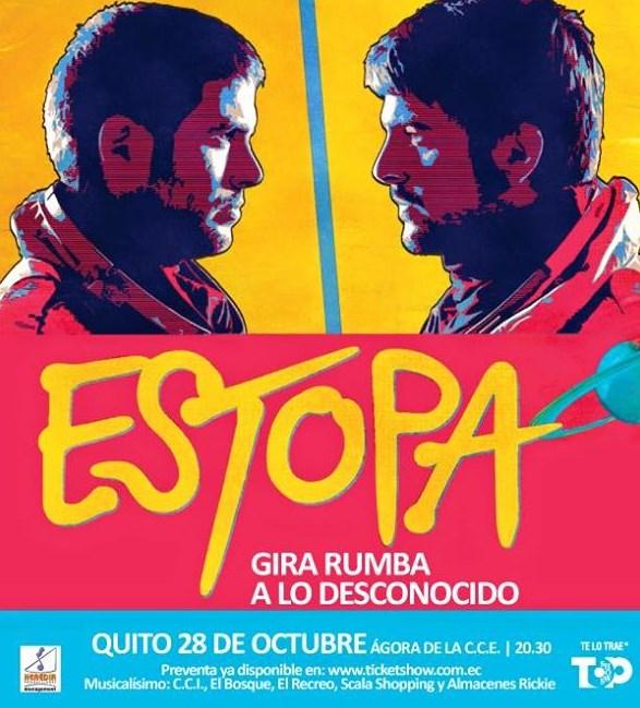 Concierto Estopa Quito Octubre 2015