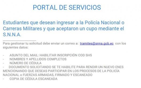 ENES ingreso Policia Nacional 2015