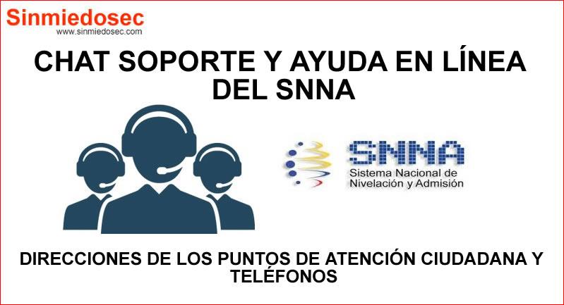 Chat Soporte en línea del SNNA