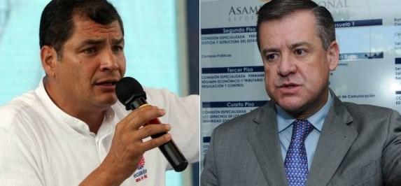 Rafael Correa y Andrés Páez se retan a los puñetes
