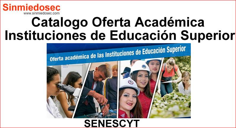 Catalogo Oferta Académica Senescyt