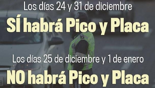 Pico y Placa en Quito durante Navidad y Fin de Año