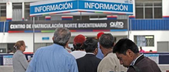 Horario de Atención Centros de Revisión y Matriculación Quito