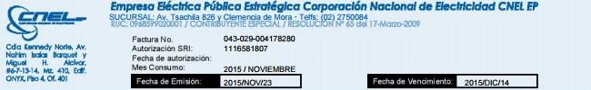 Imprimir Duplicado de Factura CNEL