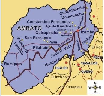 Lista Parroquias Urbanas y Rurales de Ambato