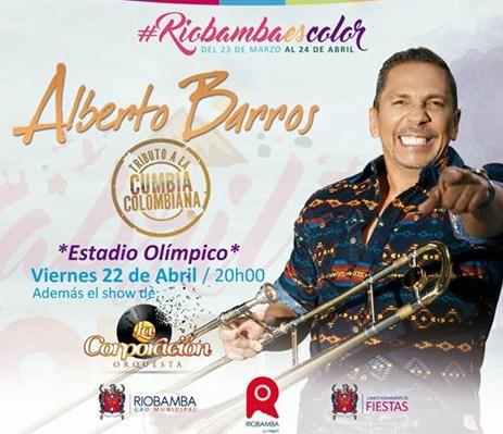Concierto Alberto Barros Riobamba 2016