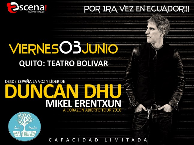 Concierto Duncan Dhu Quito Junio 2016