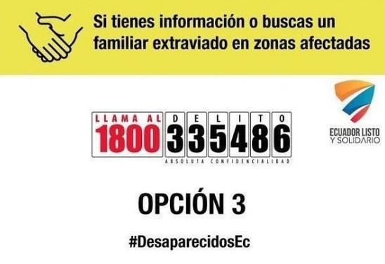Información de Personas Desaparecidas en Ecuador