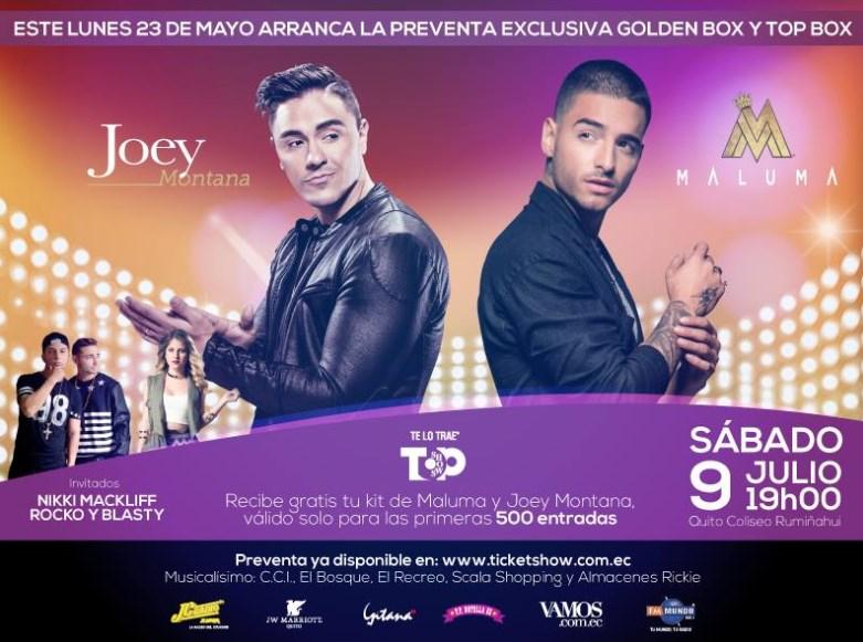 Concierto Joey Montana y Maluma Quito Julio 2016