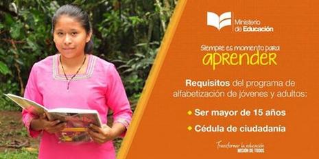 Programa de Alfabetización de Jóvenes y Adultos en Ecuador