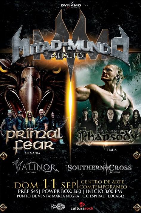 Concierto Mitad del Mundo Metal Fest Septiembre 2016