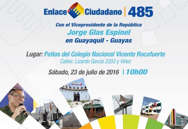Enlace Ciudadano 485 en Guayaquil (sábado 23 de julio 2016)