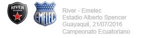 River Plate vs Emelec 21 de Julio 2016