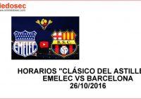 Horarios del clásico Emelec vs Barcelona 26 Octubre 2016