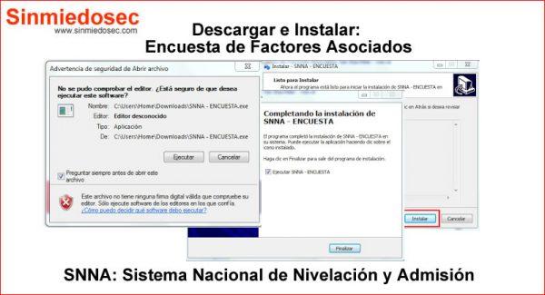 Como descargar e instalar la Encuesta de Factores Asociados SNNA