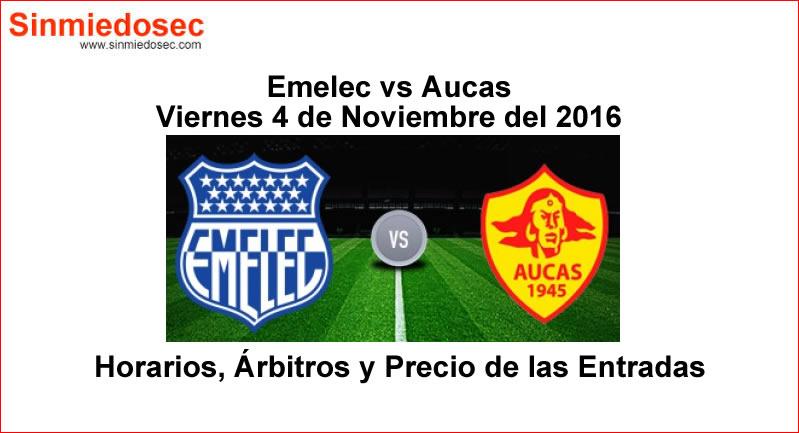 Emelec vs Aucas 4 de Noviembre 2016