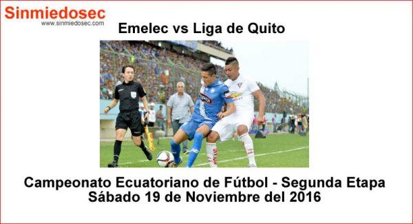 Emelec vs Liga de Quito 19 Noviembre 2016