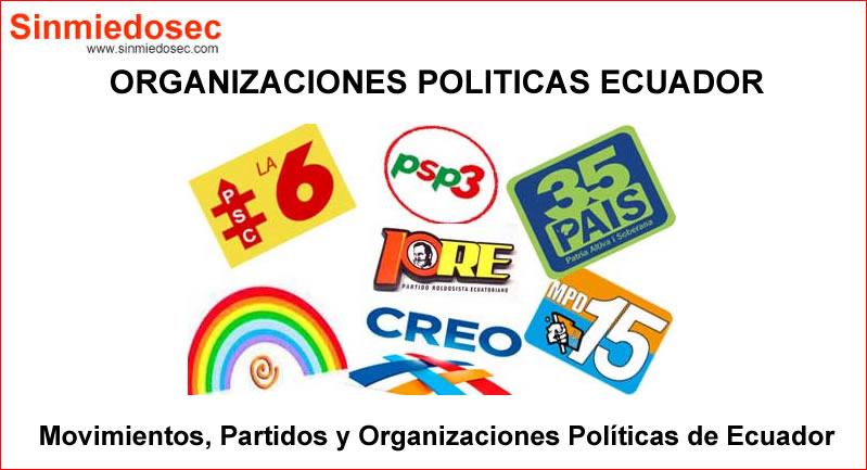 Movimientos, Partidos y Organizaciones Políticas Ecuador