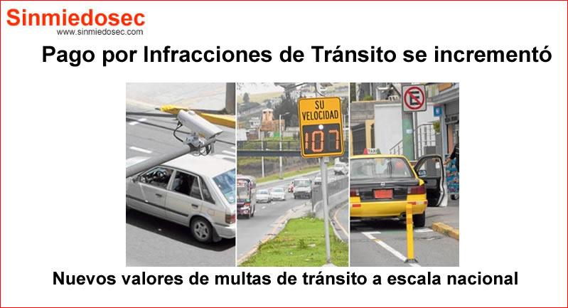 Multas económicas por infracciones de tránsito