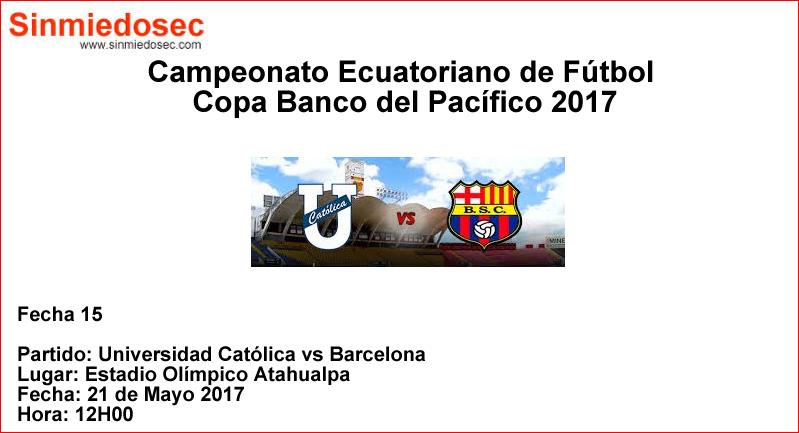 U. CATÓLICA VS BARCELONA (21-05-2017)