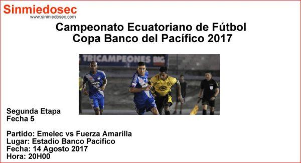EMELEC VS FUERZA AMARILLA (14-08-2017)