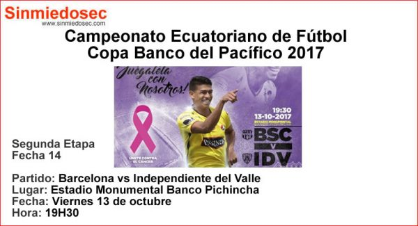 BARCELONA VS INDEPENDIENTE DEL VALLE (13-10-2017)