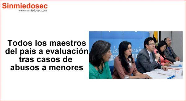 Evaluación para docentes en Ecuador por abuso a menores