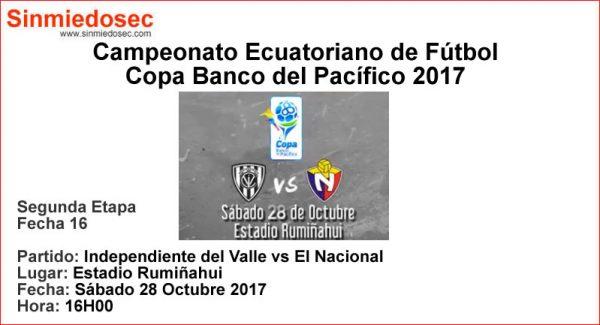 INDEPENDIENTE DEL VALLE VS EL NACIONAL (28-10-2017)