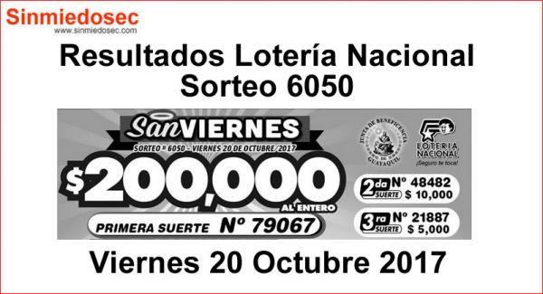 LOTERÍA NACIONAL SORTEO 6050
