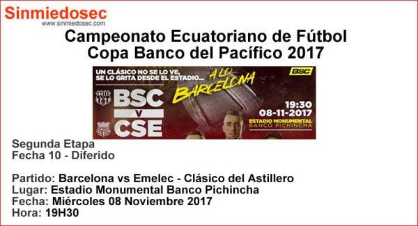 BARCELONA VS EMELEC (08-11-2017)