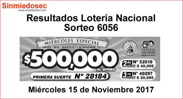 LOTERÍA NACIONAL SORTEO 6056